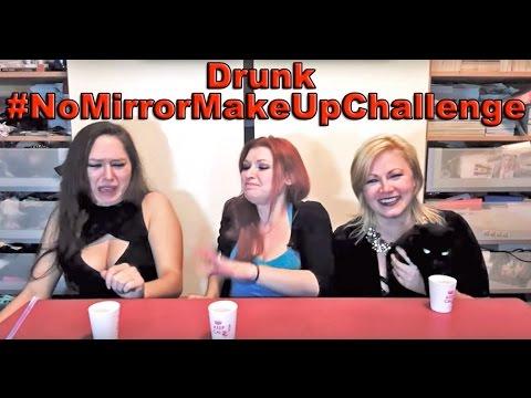Drunken 5 Min, No Mirror Makeup Challenge | Scream Queen Stream