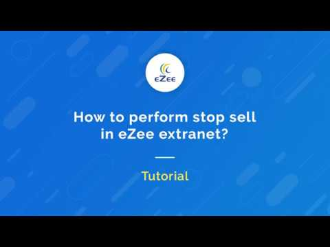 How to perform stop sell for your hotel in eZee Extranet