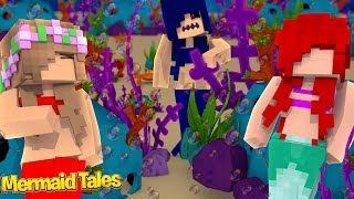 EVIL SIREN CRASHES SLEEPOVER WITH ARIEL!   Minecraft Mermaid Tales    Little Kelly