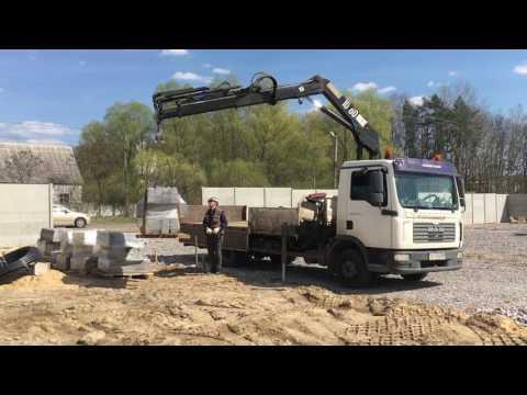 Работа 5 тонного крана манипулятора ООО Булава Транс