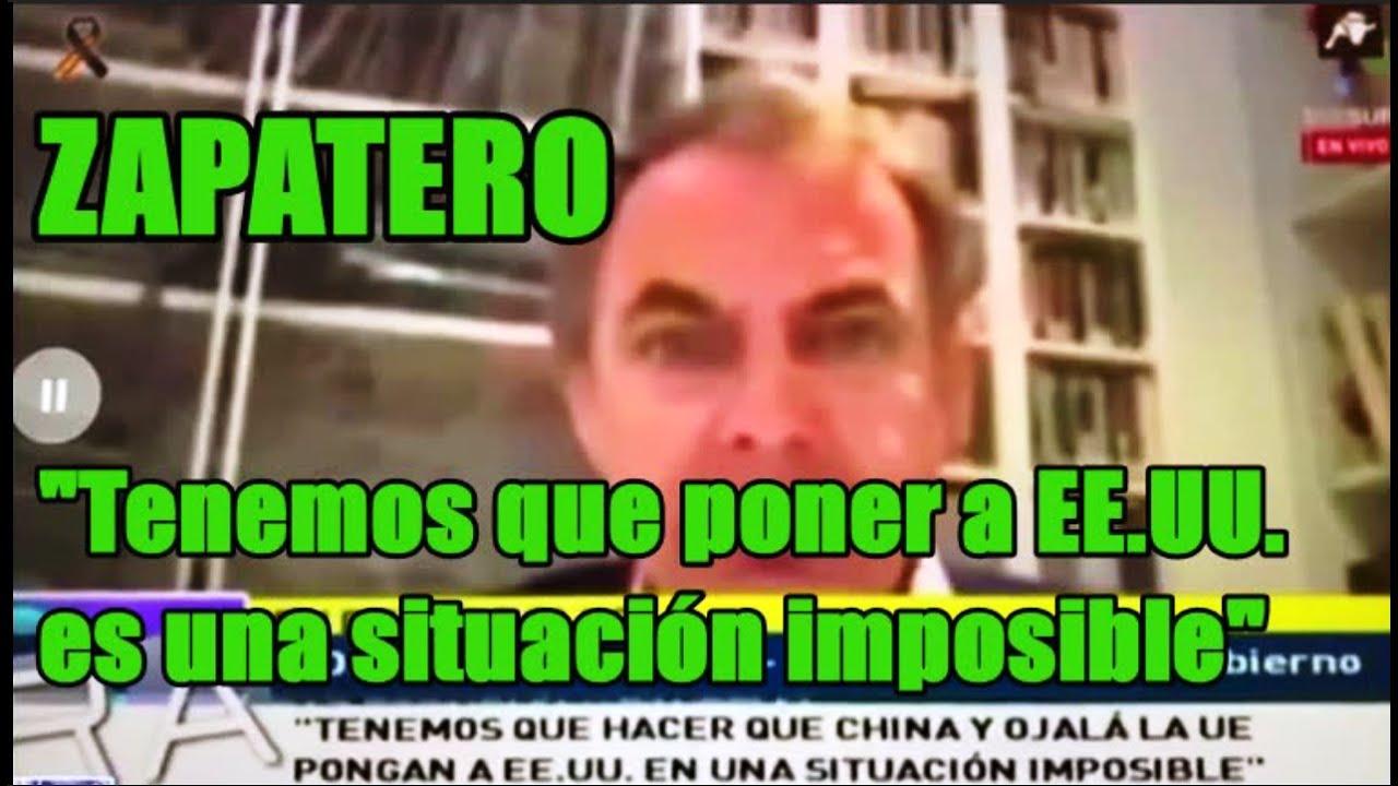 Zapatero pide atacar a Estados Unidos