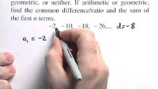 Determine If Sequence Is Arithmetic Or Geometric Or Neither - Problem 1