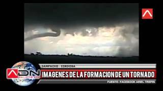 Filman un tornado en la provincia de Córdoba