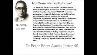 Dr. Peter Beter Audio Letter 46: Rockfeller; Cosmosphere; Modern Alliance - May 28, 1979