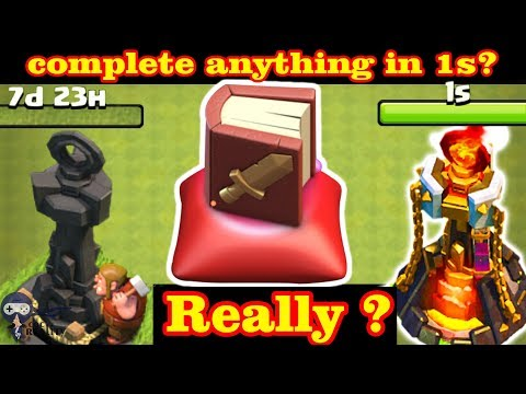 Complete anything in 1 second - Clash of clans Clan Games new update Magic Book