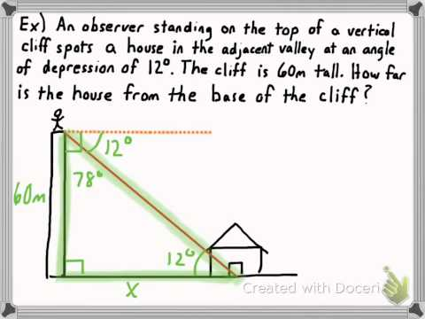 Angle of Elevation/Angle of Depression Problems