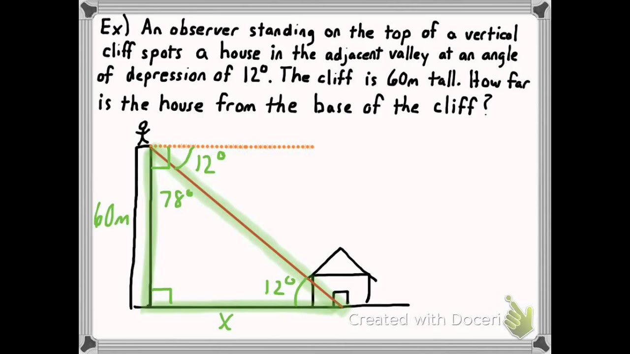 Angle of ElevationAngle of Depression Problems YouTube – Angle of Elevation Worksheet