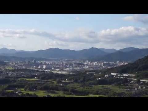 Saijo-cho, Higashihiroshima-shi. Distant view of Saijo city. (東広島市, 西条町)