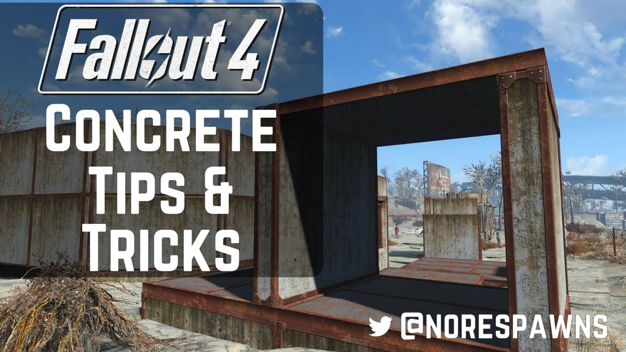 Fallout 4 concrete tips tricks youtube for Concrete advice