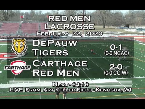 Carthage Men's Lacrosse Vs. DePauw 2019_2_22