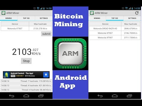 Top Best Bitcoin Mining Android App ARM 2018| ARM Miner Huawei Tablet T821W