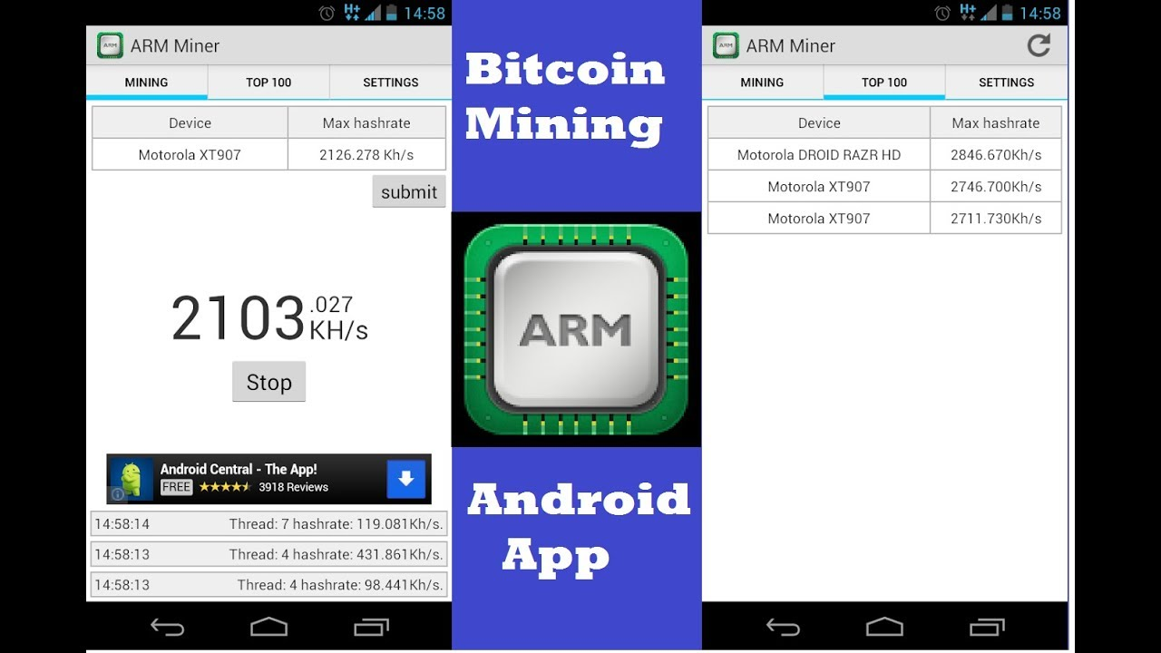 best cryptocurrency mining on android