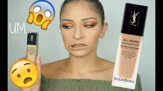 *NEW YSL ALL HOURS FOUNDATION REVIEW | hit or miss?