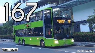 [SMRT] Debut - SG5986K on Service 167 - MAN ND323F A95 Euro 6 Gemilang