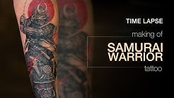 Realism Tattoo Timelapse - Making of Samurai Warrior Tattoo