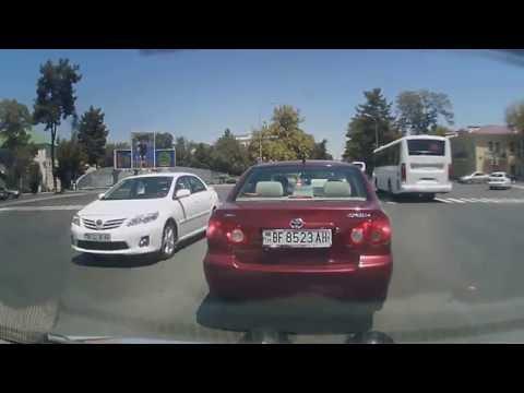 driving into Ashgabat, Turkmenistan