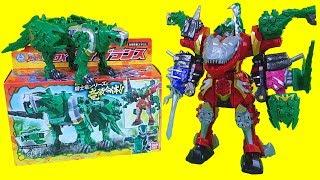 기사룡전대 류소우저 파워레인저 다이노소울 장난감 DX타이거랜스 DX키시류오 쓰리나이츠 합체 DX키시류오 타이거랜스 합체로봇