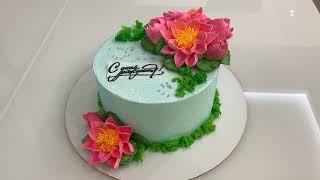 Это НЕВЕРОЯТНО МК ЛОТОСЫ из Белкового крема Красивый торт
