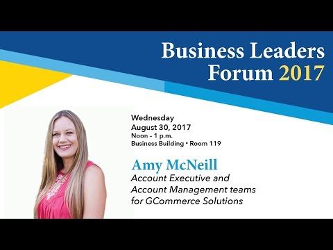 Business Leaders Forum 2017 Fall - Amy Mc Neill