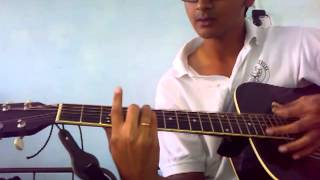 """Allah ke bande hasde"" Guitar lesson by Mykee"