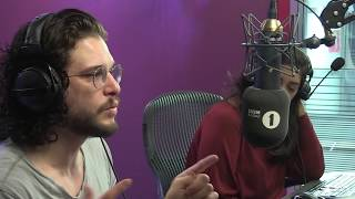 Kit Harington gets a phone call from Maisie Williams  Big Weekend Co Hosts