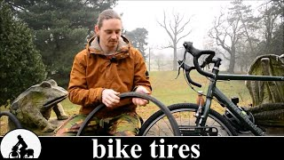 a touring bike is born: bicycle tires