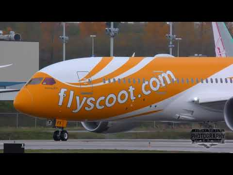 Scoot - Boeing 787 Dreamliner test flight Departure