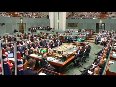 British Prime Minister The Right Honourable David Cameron addresses Australian Parliament 14.11.14