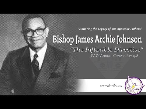 "Bishop James Johnson ""INFLEXIBLE DIRECTIVE"" Powerful Sermon!"