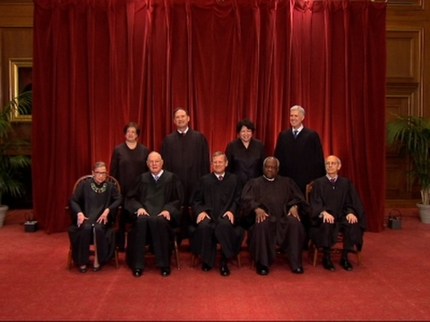 Supreme Court Justices Pose for Class Photo
