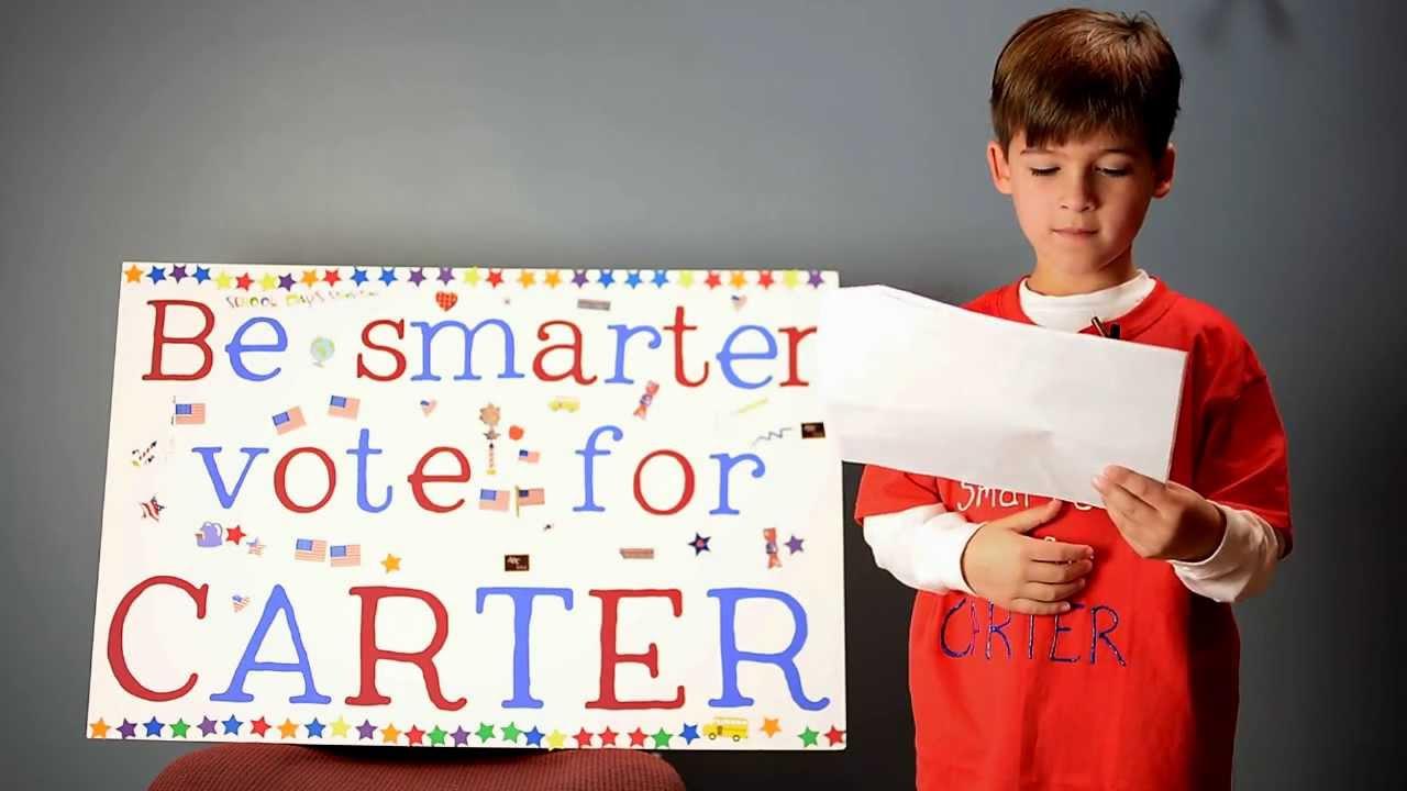 Carter for 2nd grade class president - YouTube