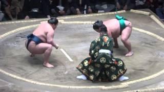 20160114大相撲初場所5日目 嘉風 vs 豪栄道 大関に土.