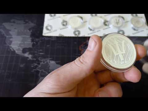 1 oz silver coin - Barbados Trident 2017