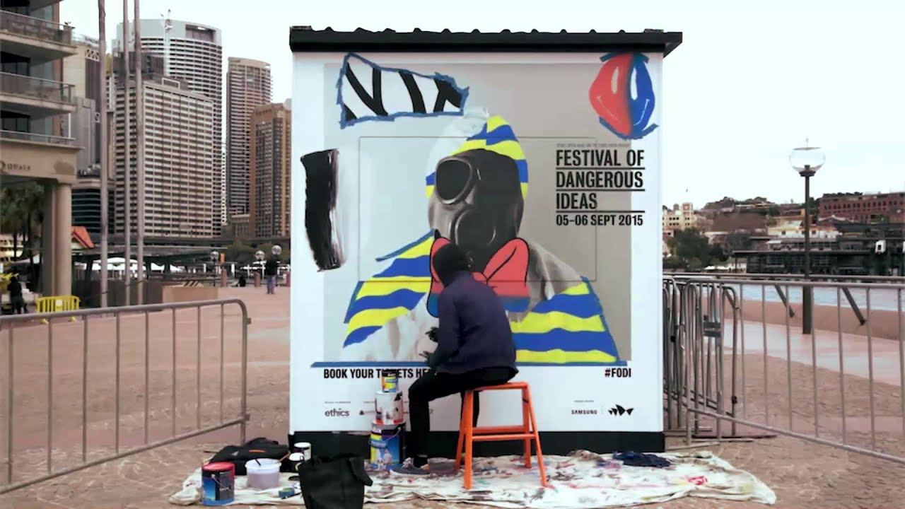 Numskull Live Painting At The Sydney Opera House Festival Of