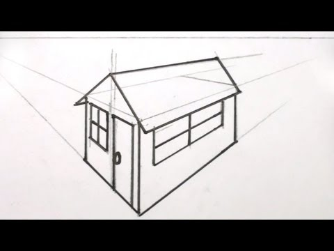 How To Draw A House 3d In Two Point Perspective Mat Youtube