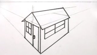 How to Draw a House 3D in Two Point Perspective