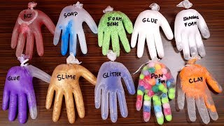 Making Slime With Gloves - Mixing Ingredients - Popping 10-Gloves thumbnail