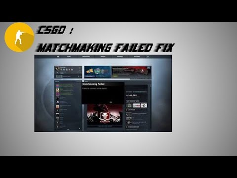 CS:GO - Cannot Connect to Matchmaking Servers FIXED! from YouTube · Duration:  2 minutes 38 seconds