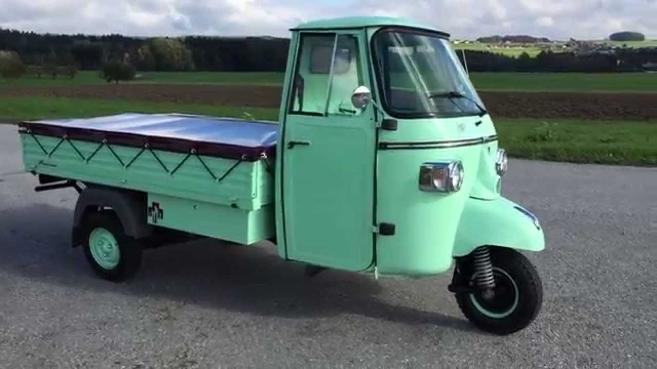 dominiks piaggio ape classic youtube. Black Bedroom Furniture Sets. Home Design Ideas