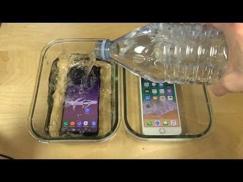 Samsung Galaxy S8 Plus vs. iPhone 7 Plus Water Freeze Test 16 Hours! Which Is Best?!