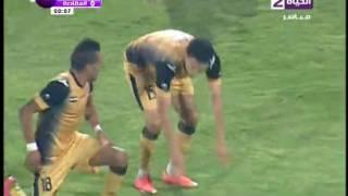 جدو يحرز الهدف الثاني للانتاج الحربي في مصر المقاصة مقابل 0 على طريقة أمم 2010 في الدوري