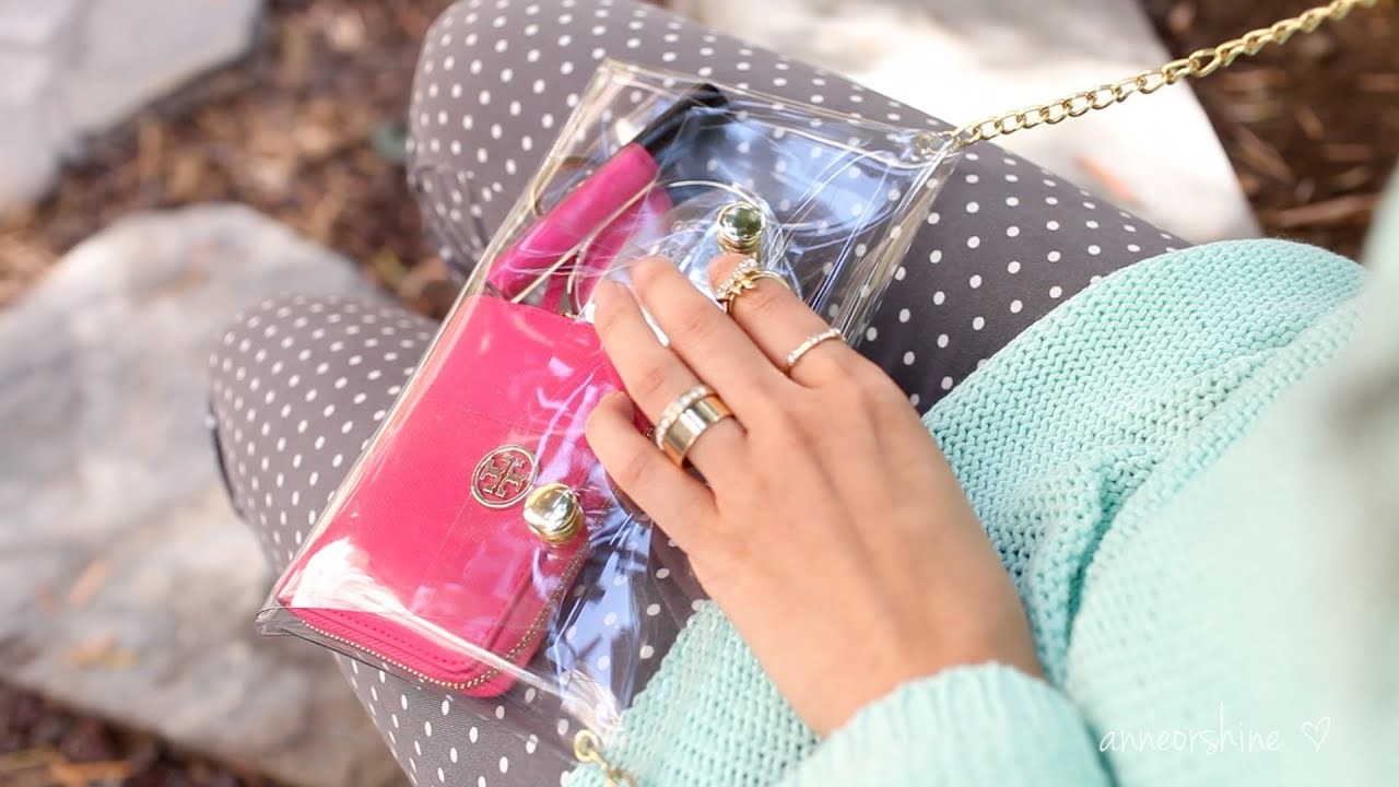 DIY Accessories  How to Make a Cute Clear Crossbody Clutch     DIY Accessories  How to Make a Cute Clear Crossbody Clutch   ANNEORSHINE    YouTube