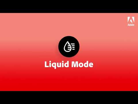 Liquid Mode in Adobe Acrobat Reader  |  Adobe Acrobat