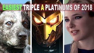 10 Easiest PS4 Triple A Platinums of 2018 | Easy & Fun Platinums