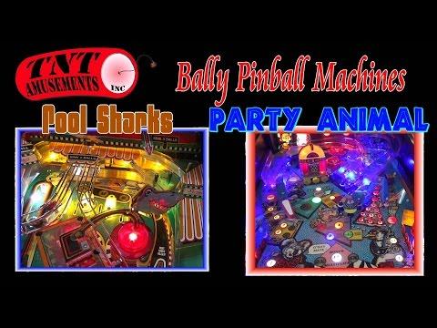 #1166 Bally POOL SHARKS & PARTY ANIMAL Pinball Machines-TNT Amusements