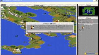 Civilization 2 - Scenarios gameplay (PC Game, 1996)