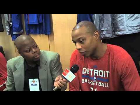 Detroit Pistons forward Caron Butler Interview