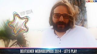 Gronkh gewinnt Let'sPlay - Deutscher Webvideopreis 2014