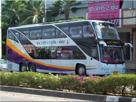 PATTAYA to PHUKET by over night bus with Geoff Carter
