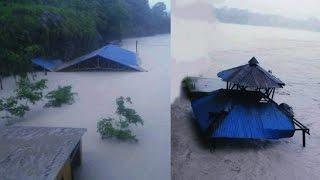 पोखरामा सेती नदी थुनिदा बन्यो ताल ||  छोरेपाटनमा दर्जनौ घरहरु यसरी  डुबानमा लगातार बर्षाले | pokhara